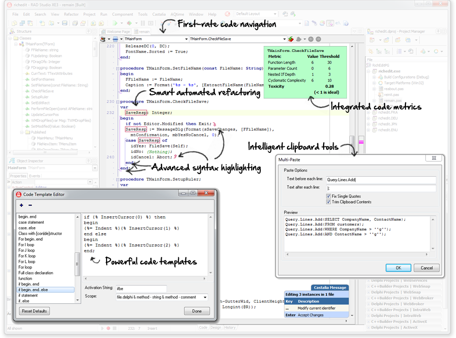 A smarter code editor for the Delphi IDE